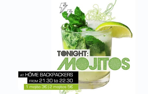 Mojito en Home Backpackers Hostel Valencia